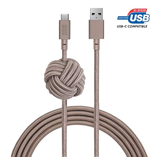 Native Union Night Cable USB-C a USB-A - 3 Metres Ultra-Robusto Cable...