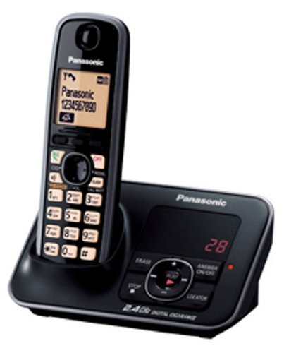 Panasonic Single Line 2.4GHz KX-TG3721BX Digital Cordless Landline Phone (Black)