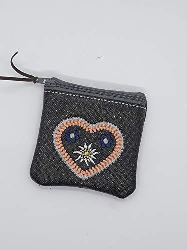 kleine Tasche, Kosmetiktasche, Schlüsselmäppchen, Kunstleder, Bayern, Lebkuchenherz