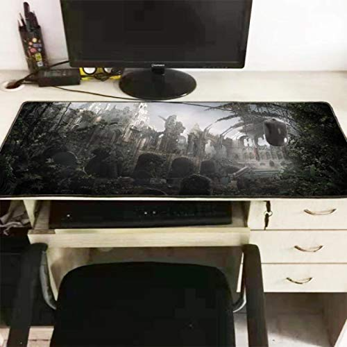 Dark Fantasy Landscape Version Large Gaming Lock Edge Mousepad Teclados Mat Computadora Tablet Mouse Pad Office Game 400 * 900 * 3Mm