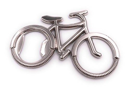 H-Customs Fahrrad Bike Silber Flaschenöffner Schlüsselanhänger besonderer Anhänger aus Metall