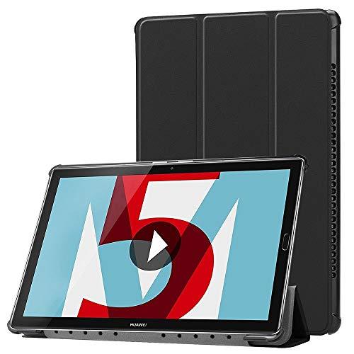Premium Smartcover Schwarz für Huawei MediaPad M5 8.4 Tasche Wake UP