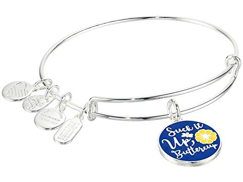 Alex and Ani Suck It Up Buttercup Bracelet Silver/Blue/Yellow One Size