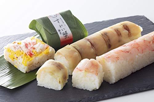 北陸の幸 ぷりぷり感のある甘海老 脂と旨味たっぷりのとろけるような舌ざわりののどぐろ棒寿司 甘いずわい蟹の贅沢な寿司詰合せ|笹寿司と厳選小袖寿司の詰合せ(蒸し寿司)|おとりよせ 人気ギフト |【冷凍】