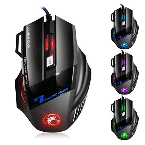OUYAWEI Professionele Wired Gaming Mouse 7 Knop 5500 DPI LED Optische USB Computer Muis Game Muis Stille Mause voor PC