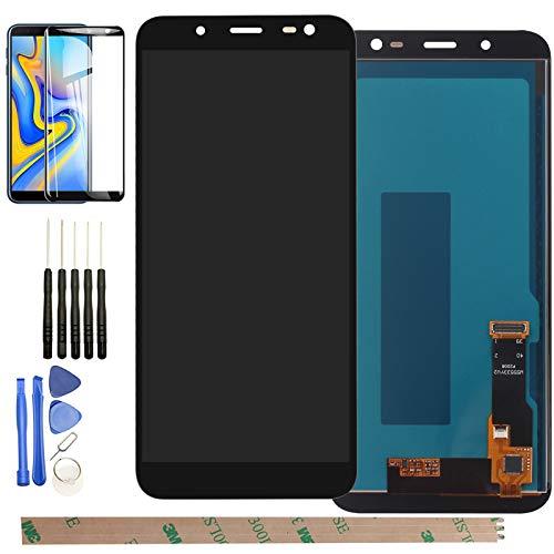 YHX-OU Für Samsung Galaxy J6 J600 2018 J600F/DS 5.6 LCD Display Touchscreen Ersatz Bildschirm mit Kostenloses Werkzeug (Schwarz)