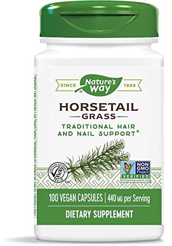 Natures Way Horsetail Grass, 440mg, 100 Capsules, Pack of 2