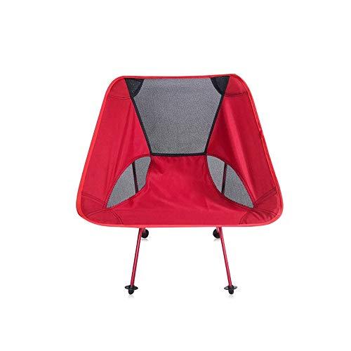 WPF ZTT Silla de Playa Plegable, portátil Camping Silla de jardín con Mochila, con Bolsa de Transporte, for Eventos al Aire Libre Caminante Playa Campamento de Picnic (Color : Red)