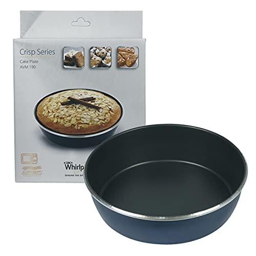 Whirlpool - Piatto crisp, diametro 21cm, altezza 5,5cm, AVM190, per forno a microonde Whirlpool