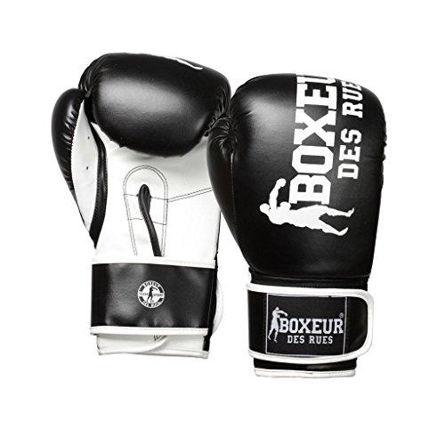 Boxeur Des Rues BXT-5127 - Guantes de boxeo, Negro, 14OZ