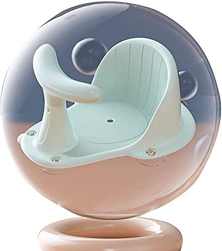 Asiento de baño de seguridad para bebé, silla de baño, asiento adecuado para bebés de 6 meses (color verde)