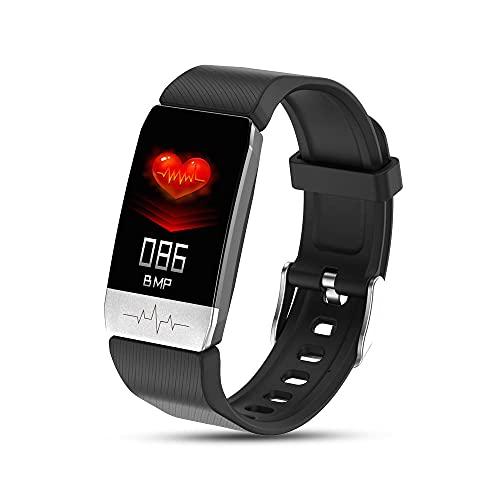 Pulsera Inteligente, Rastreador de Fitness Tracker Tracker Salud Deportes Reloj Deportivo con Ritmo CardíAco Ymonitor SueñO Pulsera Inteligente Pulsera de CaloríAs PedóMetro para NiñOs Y NiñAs-Azul