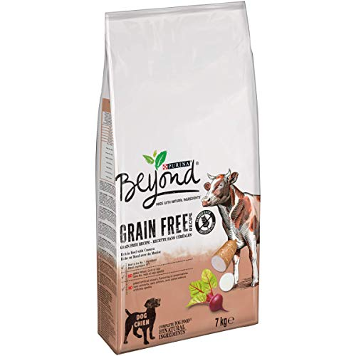 Purina Beyond Grain Free pienso Natural para Perro con Buey 7 Kg - 1 Sacos