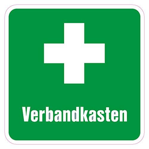 Verbandkasten Aufkleber - grün - 10 cm - Vinylaufkleber (1)