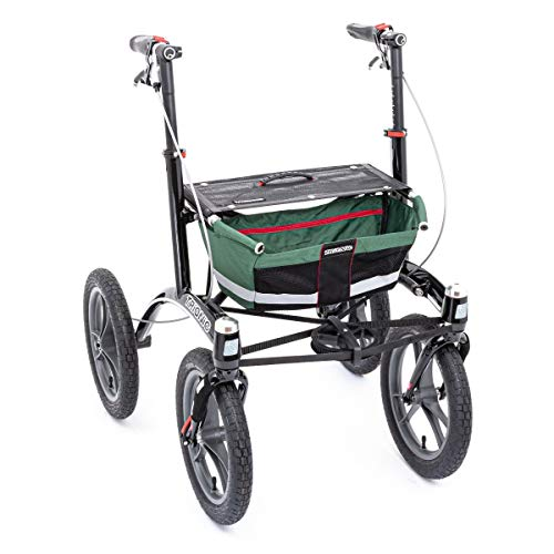 Rollator Walker 14er M/L grün/schwarz/rot