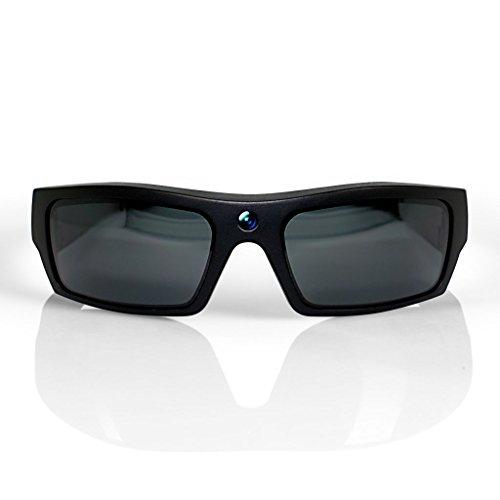 GoVision SOL 1080p HD Camera Glasses Video Recording Sport Sunglasses with Bluetooth Speakers and 15mp Camera - Black (GV-SOL1440-BK)