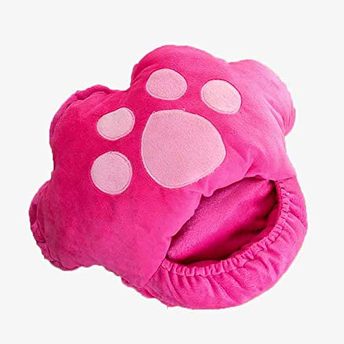 BDN Keeping Foot Warmer,USB electric foot warmer, 6-stage temperature-adjustable warm shoes, removable and washable heating shoes-Pink_36X32CM