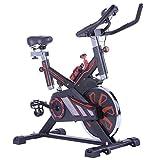 YLJYJ Bicicleta estática de Ciclismo para Interiores, Bicicleta de Ejercicio estacionaria con Volante de inercia de 15 kg con Correa, Monitor LCD, Soporte de Acero al Carbono
