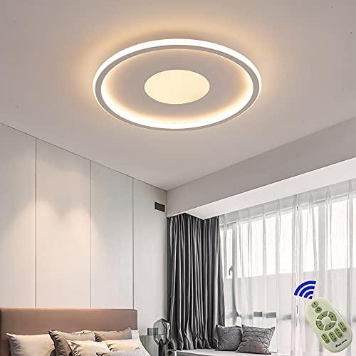 Plafon LED de Techo Regulable 72W LED Lámpara de Techo con Mando a Distáncia Temperatura Regulable 3000K-6000K Plafón LED Luz de Techo para Dormitorio Sala de estar Oficina Estudio