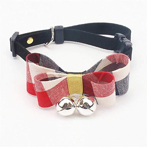 Collares Perros Mascotas Collares para Gatos Pequeños, Accesorios Personalizados con Arco Y Campana, Collares para Gatitos para Mascotas, Collar para Perros, Cachorros, Collier Animaux