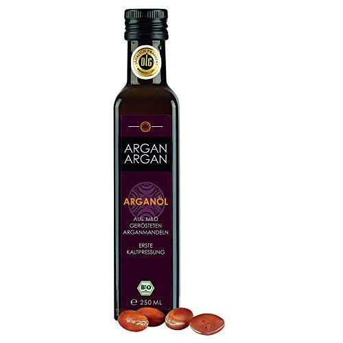 ARGANARGAN Bio-Arganöl geröstet 250ml, kaltgepresst, DLG-GOLD prämiert, SIEGER PREIS-LEISTUNG (vergleich.org), vegan, Gourmet-Speiseöl