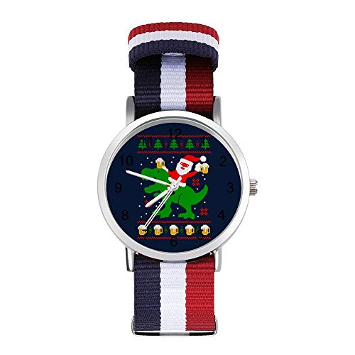 Santa Trex Bier Ugly Weihnachten Strickmuster Freizeit Band Uhren Geflochtene Uhr mit Skala