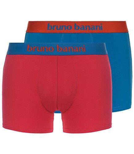 bruno banani 2-Pack Boxershorts Flowing, Petrol/Kamin XL