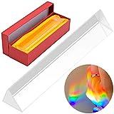 Prisma Triangular, 150mm, Divide El Haz de Luz en Diferentes Componentes Espectrales para Formar Un Hermoso Arco Iris