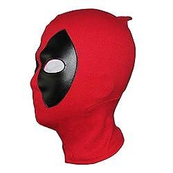 cheap Deadpool Mask Costume Halloween Mask Hood Cotton Spandex Skin Kids Adult Red