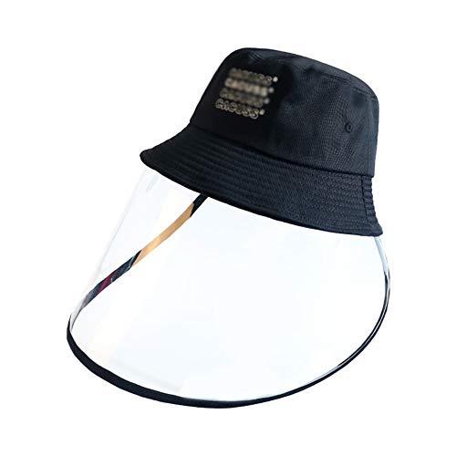 MNSSRN-MM Baumwolle Abnehmbare Fischer-Hut, modernes Temperament Sonnenschutz Sonnenhut atmungsaktiv und komfortabel Abdeckung Sonnenhut,D,M