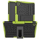 HoYiXi Funda para Tablet Lenovo Tab M10 HD (2ª Generación) de 10,1' 2020 Anti-Drop Estuche Cubierta de Doble Protectora Cover Case para Lenovo Tab M10 HD (2ª Generación) TB-X306X/TB-X306F - Verde
