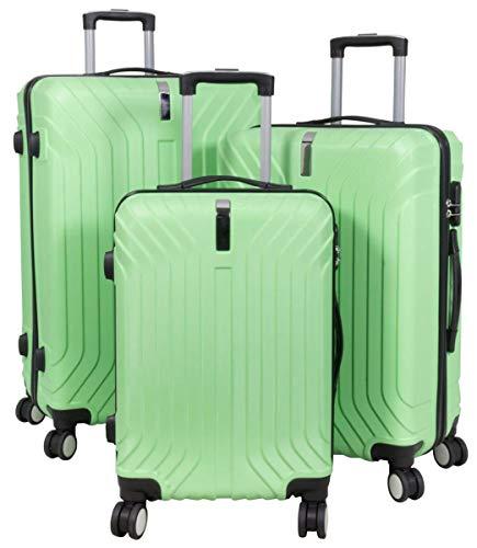 3-delige M, L, XL, hardshell ABS kofferset trolley reiskoffer set reistrolley met 3D-oppervlak handbagage boardcase Palma