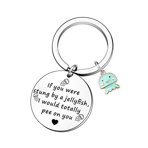 QMVMV Friendship Keyrings Gifts for Women Best Friend Birthday Christmas Presents Funny Keychain