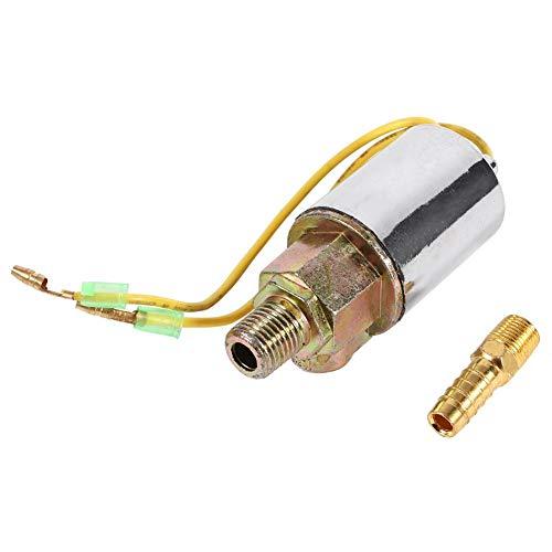 Válvula solenoide de bocina de aire para camión, 1pcs 24V Válvula solenoide de bocina de aire de camión eléctrico Tren pesado 1/4