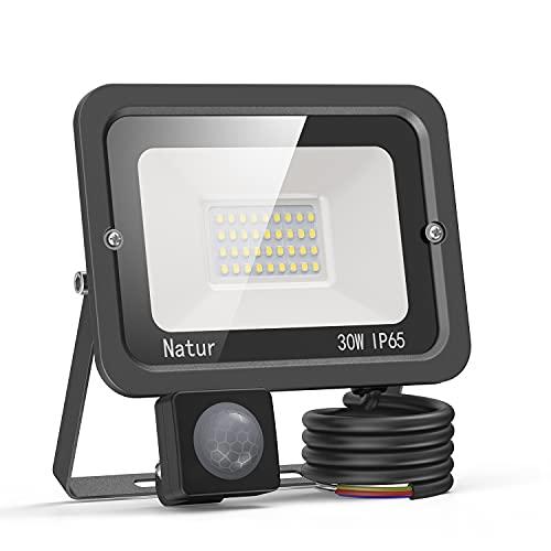 Focos Led Exterior 100W Con Sensor De Movimiento Marca bapro