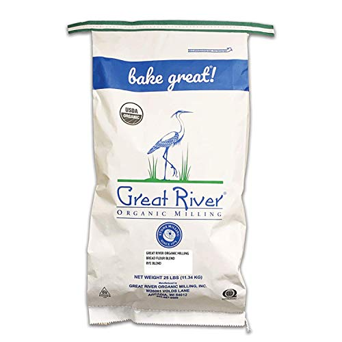 Great River Organic Milling, Bread Flour Blend, Rye Blend, Stone Ground, Organic, 25-Pounds (Pack of 1)