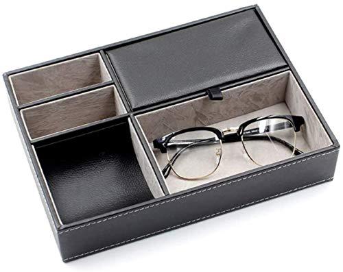 SHANCL Mostra Organizzatore for Occhiali Bagagli e Box Collector for Occhio Indossa Gioielli Chiave-Catene Watches Protector Holder Box (Color : Gray, Size : 25.6X18.6X5.2CM)