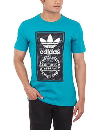 adidas Herren T-shirt Camo Tongue Label, Eqt Green S16, L