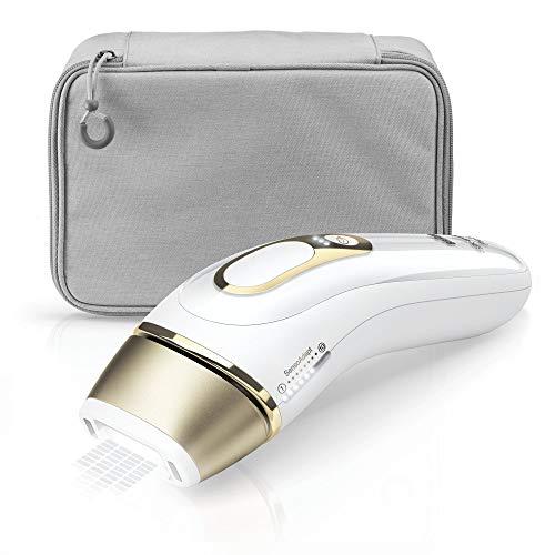 Braun Silk·Expert Pro 5 PL5014 Épilateur Lumière Pulsée Intense IPL Dernière Génération, Épilation Visible, Blanc/Doré, Idée Cadeau femme