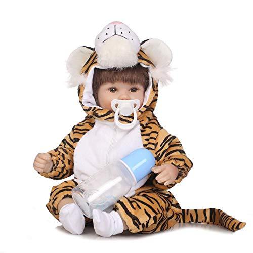 H.aetn Muñeca Realista Reborn de 16 Pulgadas, Adorable Tigre, muñecas recién Nacidas Fabricadas en Silicona Vinyland con Cuerpo de Tela ponderada