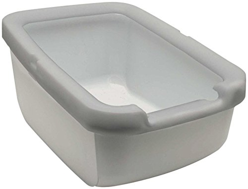Catit Cat Litter Pan with Rim, Taupe