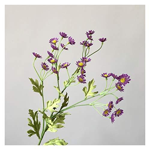 Zxebhsm Künstliche Blumen Künstliche Daisy Blumen Seide Gefälschte Kamille Blumen Staubblatt Kleine Daisy für Hochzeit Home Decor Tabelle (Farbe : Purple)