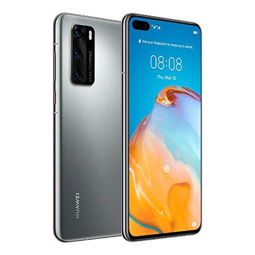 "Huawei P40 5G 6.1"" Dual SIM 128GB 8GB RAM (GSM Only, No CDMA) International Version - No Warranty (Silver Frost)"
