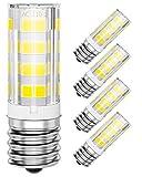 4-Pack E17 LED Appliance Light Bulbs 40W, 6000K Daylight LED Microwave Bulb, Intermediate Base Light Bulb for Oven, Stove Hood, Non-dimmable