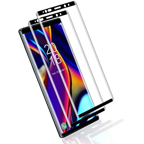 Mriaiz Verre Trempé pour Samsung Galaxy Note 9, (2 Pièces) [Couverture Complète] [Dureté 9H] [Ultra Claire] [Anti Rayures] [sans Bulles] Film de Protection d'écra pour Samsung Galaxy Note 9
