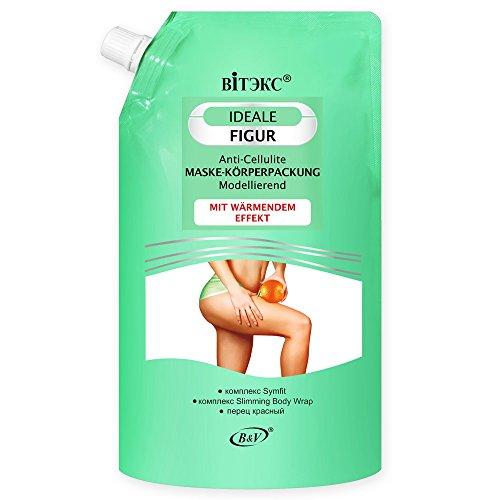 """Vitex IDEAL FIGURE Anti-Cellulite pack chauffant Masque-corps 450ml, avec des extraits de poivre, Drug complexes""""Slimming Body Wrap"""" et""""Symfit"""""""