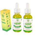 Organic Pure Hemp Oil 30,000 MG, by Kandala for Pain & Stress Natural Hemp Drops – Helps with Sleep, Skin, and Hair (2 Pack, Peppermint)