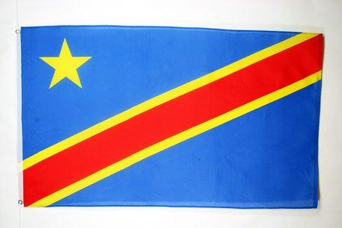 AZ FLAG Flagge DEMOKRATISCHE Republik des Kongo 90x60cm - KONGOLESISCHE Fahne 60 x 90 cm - flaggen Top Qualität