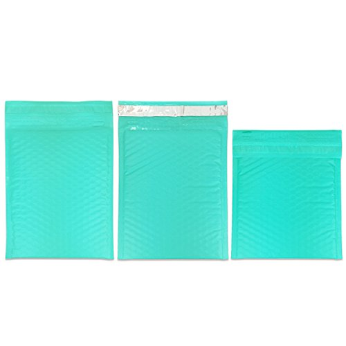 "Beauticom TEAL (30 Pieces) #0, 6x10 Self-Seal Poly Bubble Mailer 6.25"" x 9 1/4"" Photo #6"
