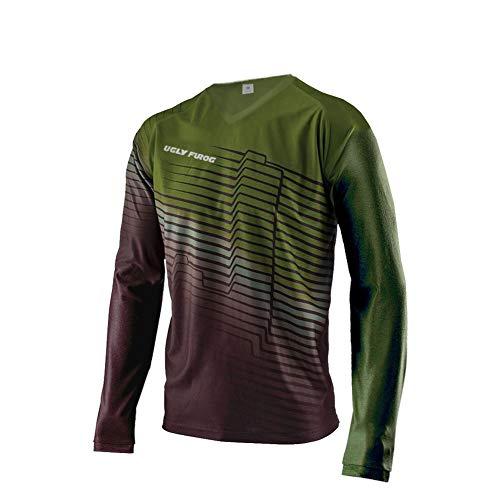 UGLY FROG Magliette Uomo Maniche Corto MTB Downhill Jersey Mountain Bike Abbigliamento SJF05